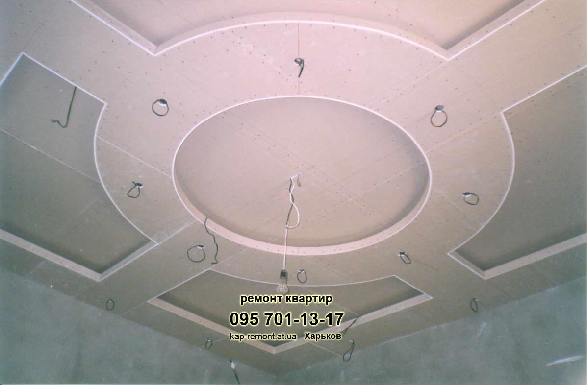 Дизайны потолков из гипсокартона и натяжных потолков